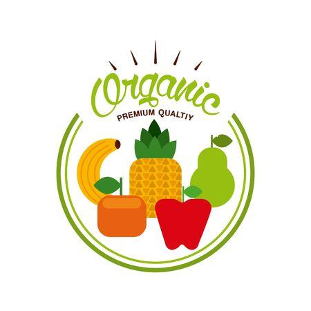 organic food design, vector illustration graphic Zdjęcie Seryjne - 129234994