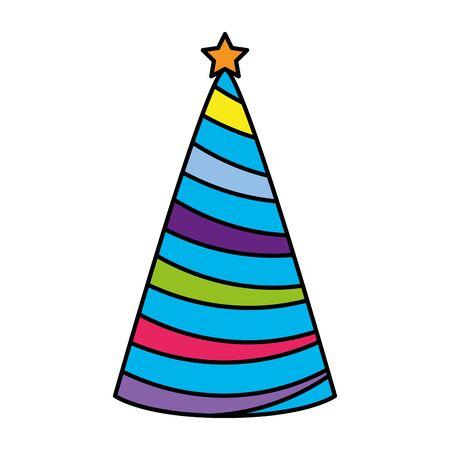 party hat celebration icon vector illustration design Banco de Imagens - 129235023