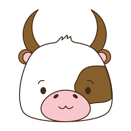 cute bull animal cartoon vector illustration design image Stock Illustratie