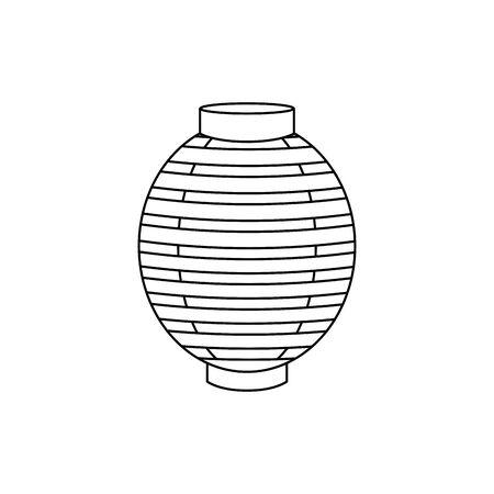 chinese decorative lamp hanging icon vector illustration design Illustration