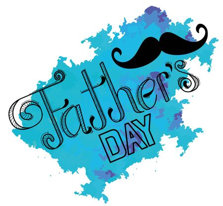 mustache decoration to fathers day celebration vector illustration