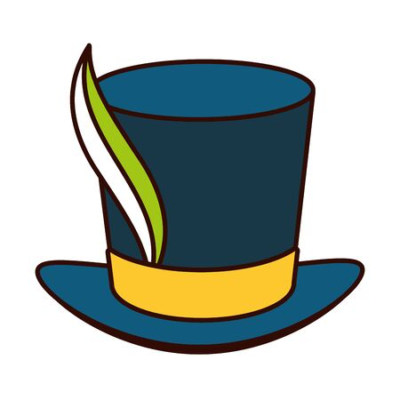 top hat feather brazil carnival vector illustration  イラスト・ベクター素材