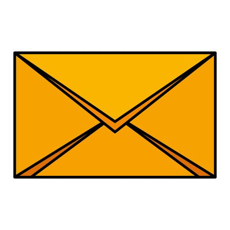 envelope mail send isolated icon vector illustration design Foto de archivo - 129201395
