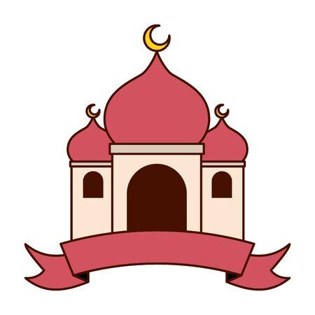 taj mahal ancient india vector illustration design Illustration