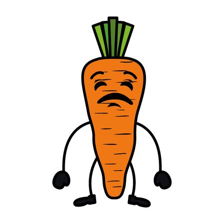 carrot fresh character vector illustration design