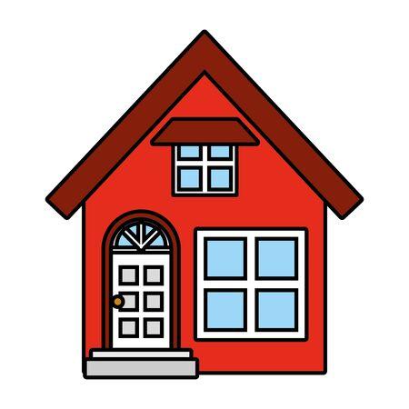 house facade exterior on white background vector illustration design Foto de archivo - 129207494