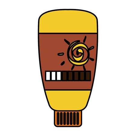 sun cream bottle product icon vector illustration design