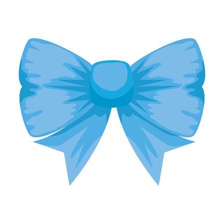 bowtie ribbon decorative isolated icon vector illustration design Foto de archivo - 129207924