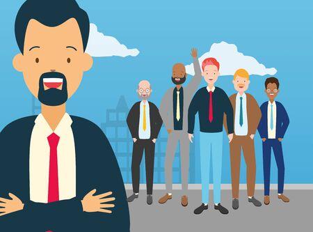 diversity man person characters vector illustration design Ilustracja