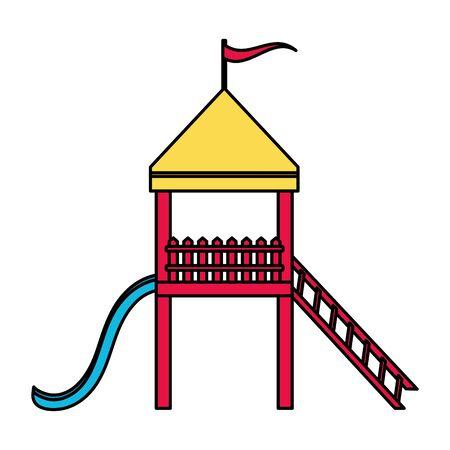 slide ladders play kids zone vector illustration Stock Illustratie