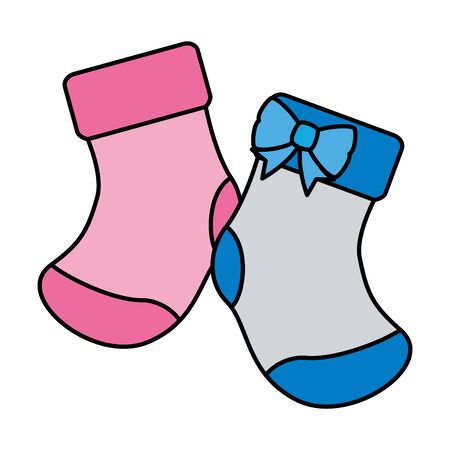 baby socks isolated icon vector illustration design
