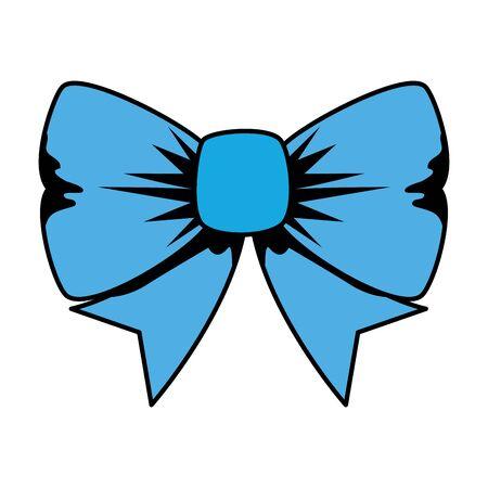 bowtie ribbon decorative isolated icon vector illustration design Иллюстрация