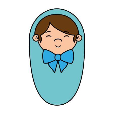 cute little boy baby icon vector illustration design
