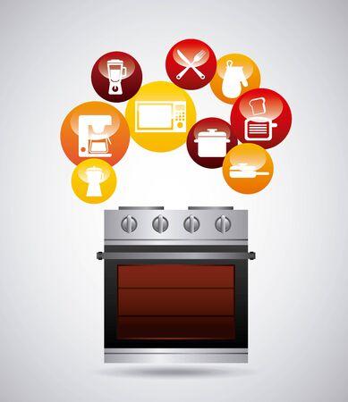 kitchen equipment design, vector illustration graphic