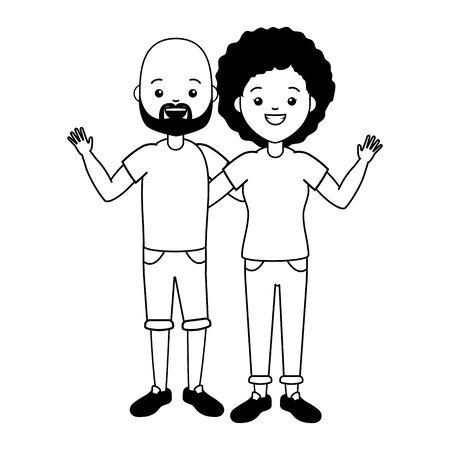 man and woman lgbt pride vector illustration