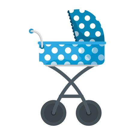 Chariot de transport pour bébé icône isolé conception d'illustration vectorielle