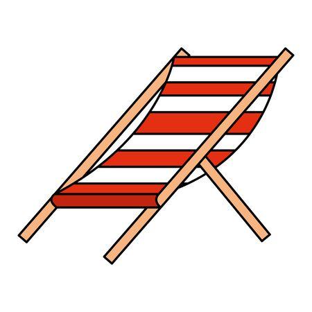beach chair stripes relax icon vector illustration design