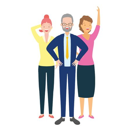 people group characters diversity on white background vector illustration Ilustracja