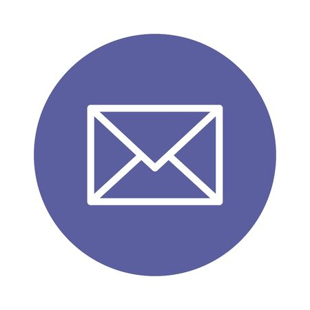 envelope mail message isolated icon vector illustration design Çizim