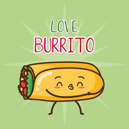 burrito fast food cartoon vector illustration Stock Illustratie