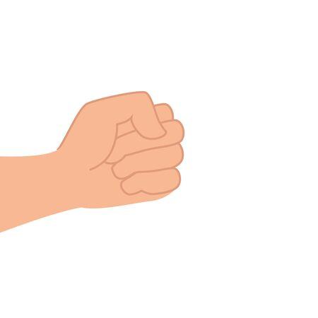 hand human fist power icon vector illustration design