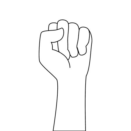 hand human fist power icon vector illustration design Archivio Fotografico - 129240735