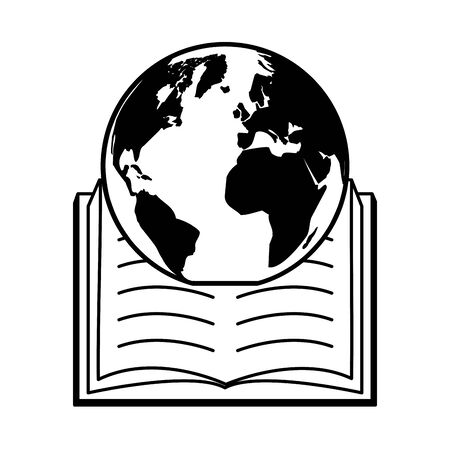 planet open textbook - world book day vector illustration