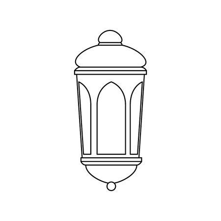 ramadan kareem lantern hanging icon vector illustration design