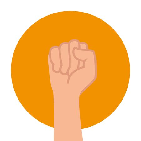 hand human fist power icon vector illustration design 스톡 콘텐츠 - 129236247