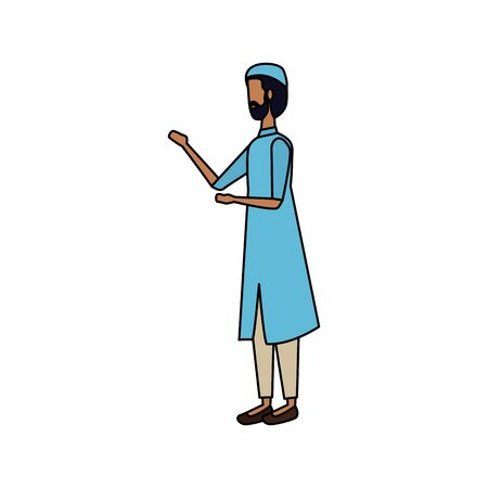 islamic man with traditional clothes vector illustration design Фото со стока - 129236310