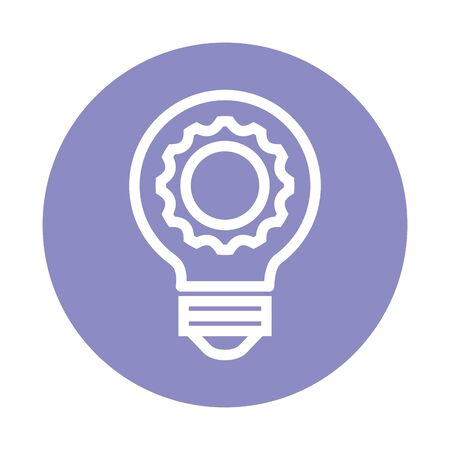 bulb light think idea icon vector illustration design Ilustracja