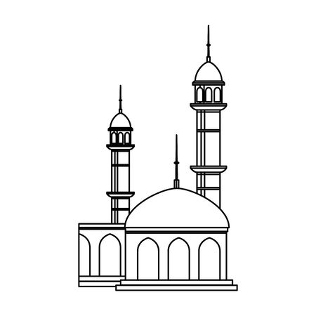 mosque building  isolated icon vector illustration design
