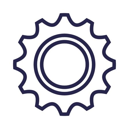 gears settings machine isolated icon vector illustration design