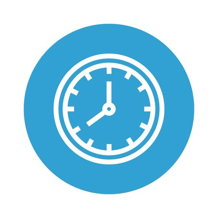 time clock hour isolated icon vector illustration design