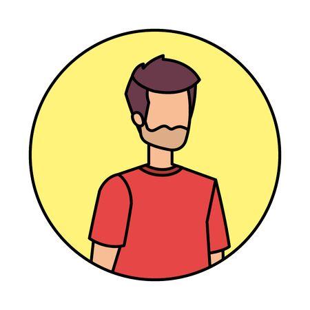 young and casual man character vector illustration design Иллюстрация