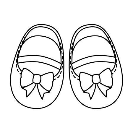 cute little girl shoes icon vector illustration design Standard-Bild - 129235434