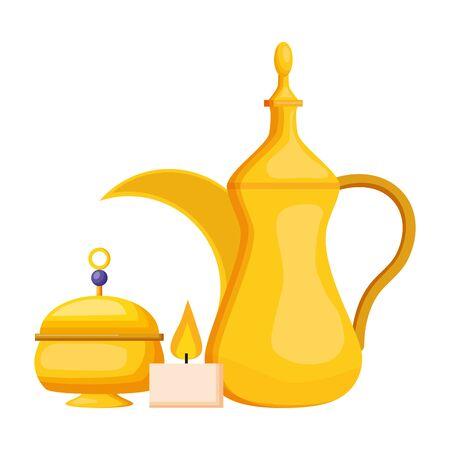indian tea pot traditional vector illustration design Stok Fotoğraf - 129257063