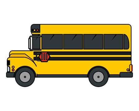 school bus transport isolated icon vector illustration design Zdjęcie Seryjne - 129352836