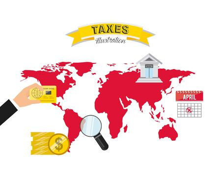 tax concept design, vector illustration graphic Vector Illustratie