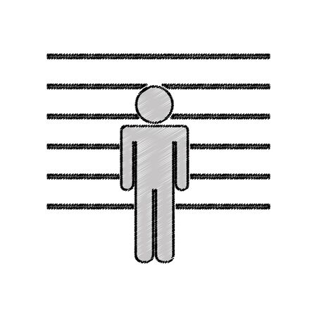 prisoner avatar silhouette icon vector illustration design