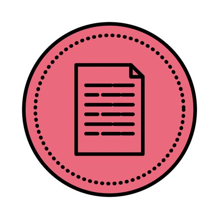 paper document file icon vector illustration design Foto de archivo - 129237968