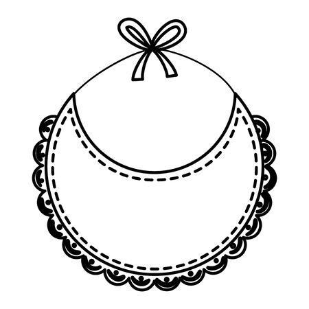 Bavoir bébé vecteur icône isolé illustration design