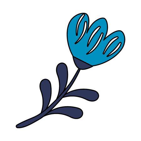 rose with leafs icon vector illustration design Archivio Fotografico - 129341274
