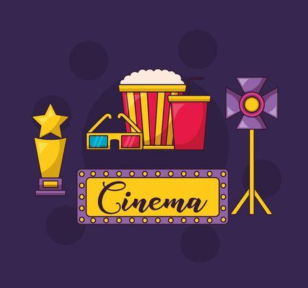 cinema movie light award food glasses