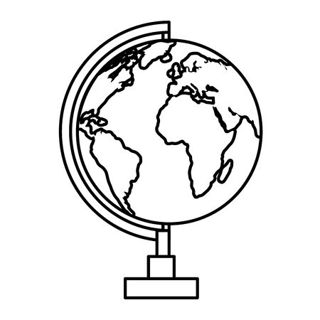 world map earth isolated icon vector illustration design