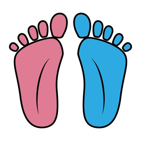 foot prints baby shower icons vector illustration design Banque d'images - 129243086