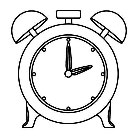 alarm clock time reminder icon vector illustration design 向量圖像