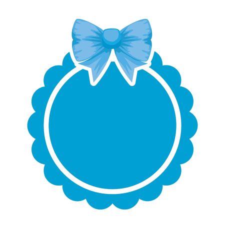 lace with bowtie decorative icon vector illustration design