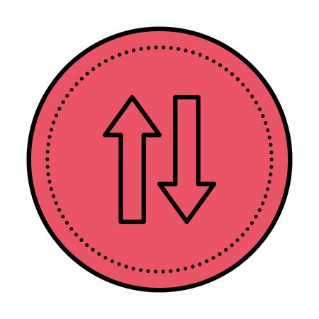 arrows direction up and down icon vector illustration design  イラスト・ベクター素材