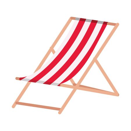 chair beach summer isolated icon vector illustration design